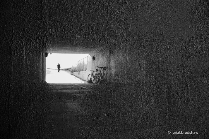 Bicycle Tunnel, double exposure. CC photo by r. nial bradshaw.